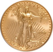 "25 Dollars ""American Gold Eagle"" (Bullion Coinage) -  obverse"