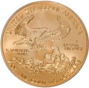 "25 Dollars ""American Gold Eagle"" (Bullion Coinage) -  reverse"