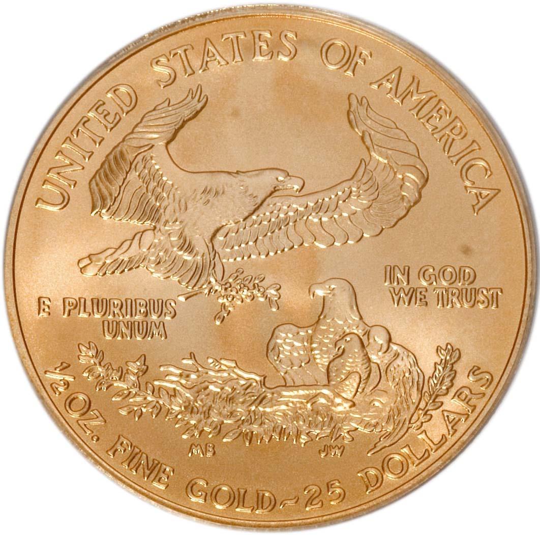 25 Dollars American Gold Eagle Bullion Coinage