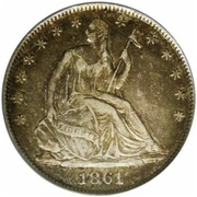 ½  Dollar - Confederate States of America – obverse