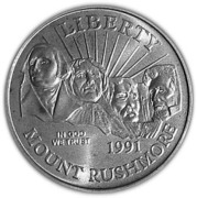 ½ Dollar (Mt. Rushmore) -  obverse