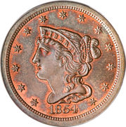 "½ Cent ""Braided Hair - Half Cent"" – obverse"