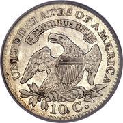 "10 Cents ""Liberty Cap Dime"" (1st variety) -  reverse"