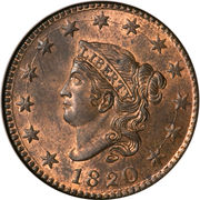 "1 Cent ""Liberty Head / Matron Head"" (Type 1) -  obverse"