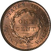 "1 Cent ""Liberty Head / Matron Head"" (Type 1) -  reverse"