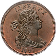 """1 Cent """"Draped Bust Cent"""" -  obverse"""