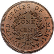 """1 Cent """"Draped Bust Cent"""" -  reverse"""