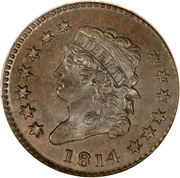 """1 Cent """"Capped Bust - Classic Head Cent"""" – obverse"""