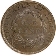 """1 Cent """"Capped Bust - Classic Head Cent"""" – reverse"""