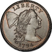 "1 Cent ""Liberty Cap Cent"" – obverse"