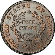 "1 Cent ""Liberty Cap Cent"" – reverse"
