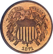 "2 Cents ""Union Shield"" -  obverse"