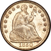 "½ Dime ""Seated Liberty Half Dime"" (with stars, no arrows) -  obverse"