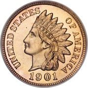 "1 Cent ""Indian Head Cent"" – obverse"