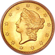 "1 Dollar ""Liberty Head"" (Type 1) -  obverse"