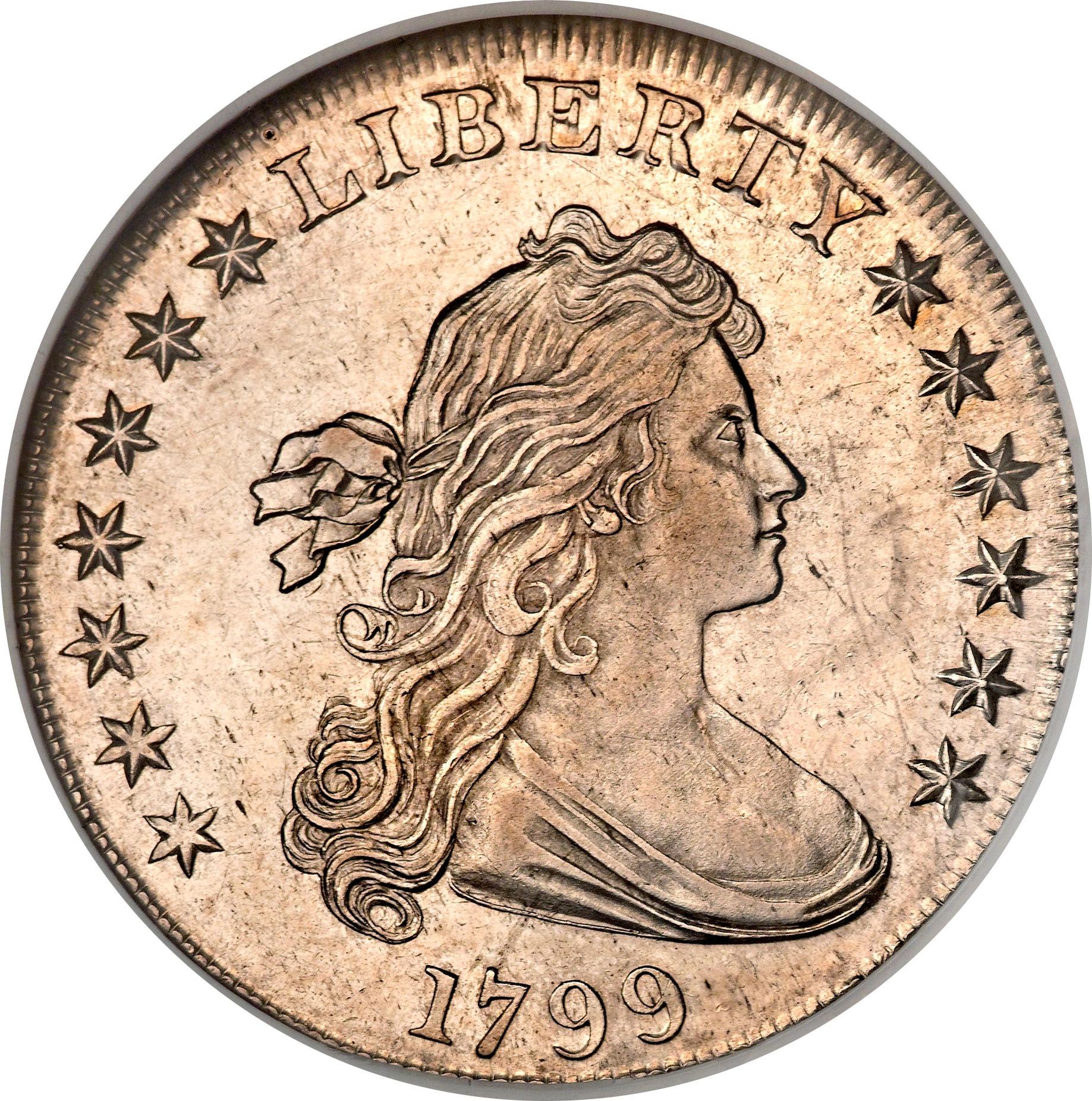 1 Dollar D Bust Heraldic Eagle