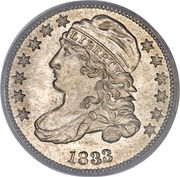 """10 Cents """"Liberty Cap Dime"""" (2nd variety) -  obverse"""