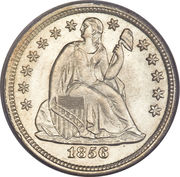 "1 Dime ""Seated Liberty Dime"" (with stars, no arrows) -  obverse"