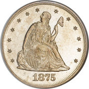 """20 Cents """"Seated Liberty"""" -  obverse"""