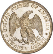 """20 Cents """"Seated Liberty"""" -  reverse"""