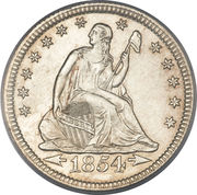 "¼ Dollar ""Seated Liberty Quarter"" (without motto, with date arrows) -  obverse"