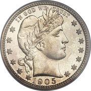 """¼ Dollar """"Barber Quarter"""" -  obverse"""