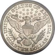 """¼ Dollar """"Barber Quarter"""" -  reverse"""