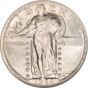 "¼ Dollar ""Standing Liberty Quarter"" (Stars Below Eagle; Variety 2) -  obverse"