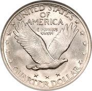 "¼ Dollar ""Standing Liberty Quarter"" (Stars Below Eagle; Variety 2) -  reverse"