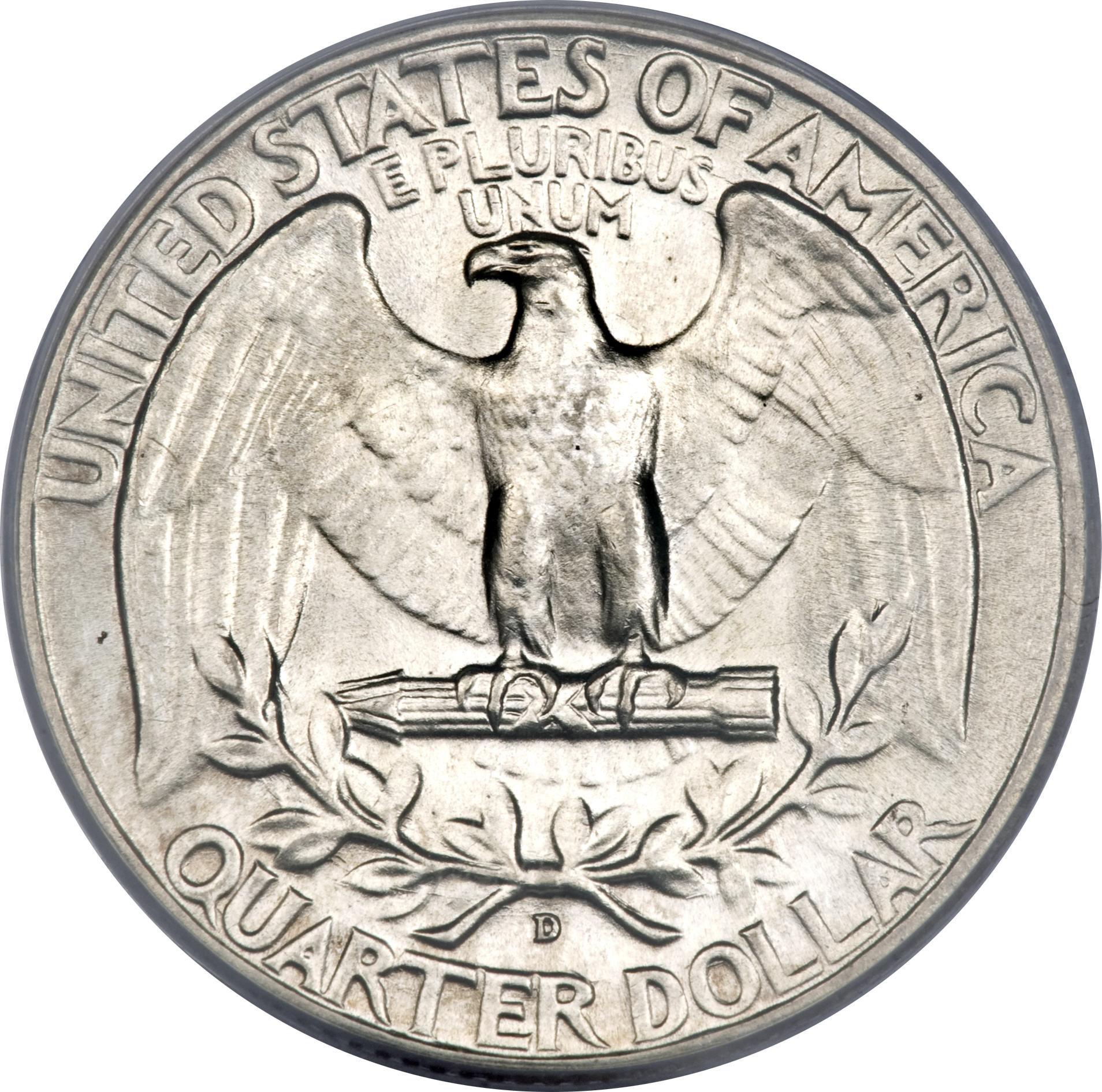 ¼ Dollar Washington Silver Quarter
