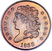 "½ Cent ""Classic Head Half Cent"" -  obverse"