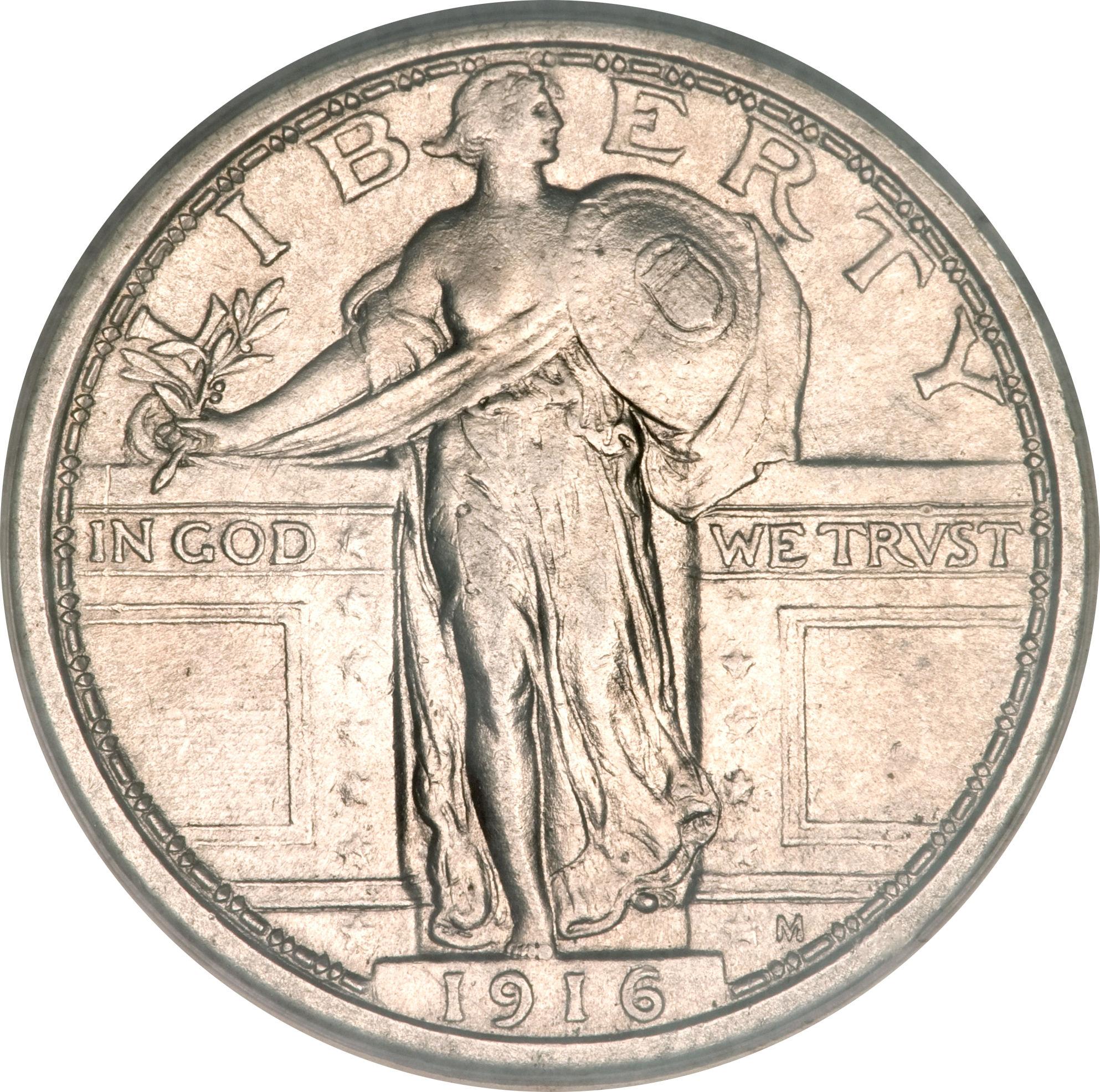 188 Dollar Quot Standing Liberty Quarter Quot No Stars Below Eagle