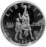 ½ Dollar (Atlanta Olympics - Basketball) -  obverse