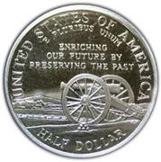 ½ Dollar (Civil War Battlefields) -  reverse