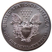 "1 Dollar ""American Silver Eagle"" (Bullion Coin) -  reverse"