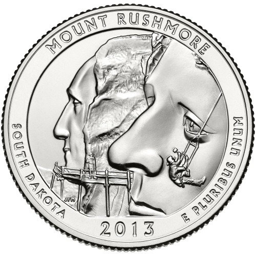 188 Dollar Quot Washington Quarter Quot Mount Rushmore South
