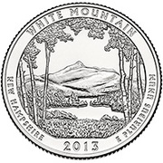 "¼ Dollar ""Washington Quarter"" (White Mountain National Forest, New Hampshire - Silver Proof) -  reverse"