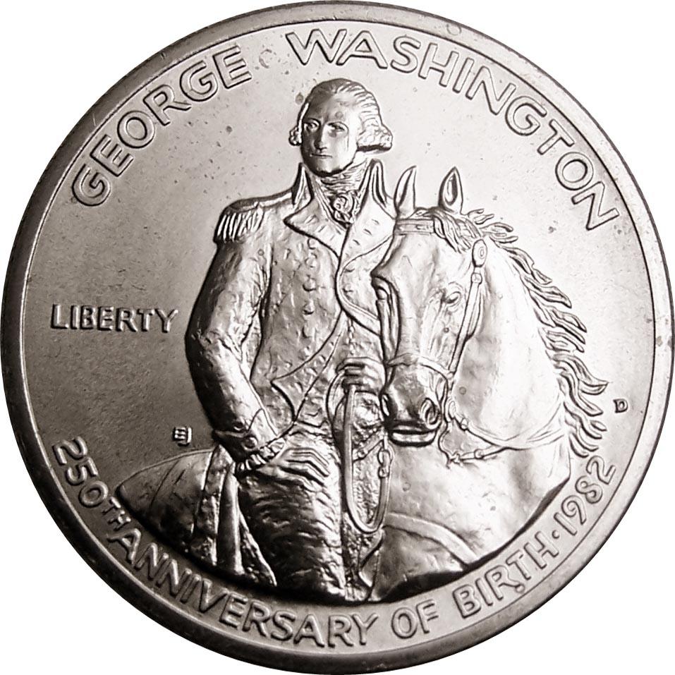 1982-S George Washington 250th Anniversary Proof Silver 50c Coin Box /& COA