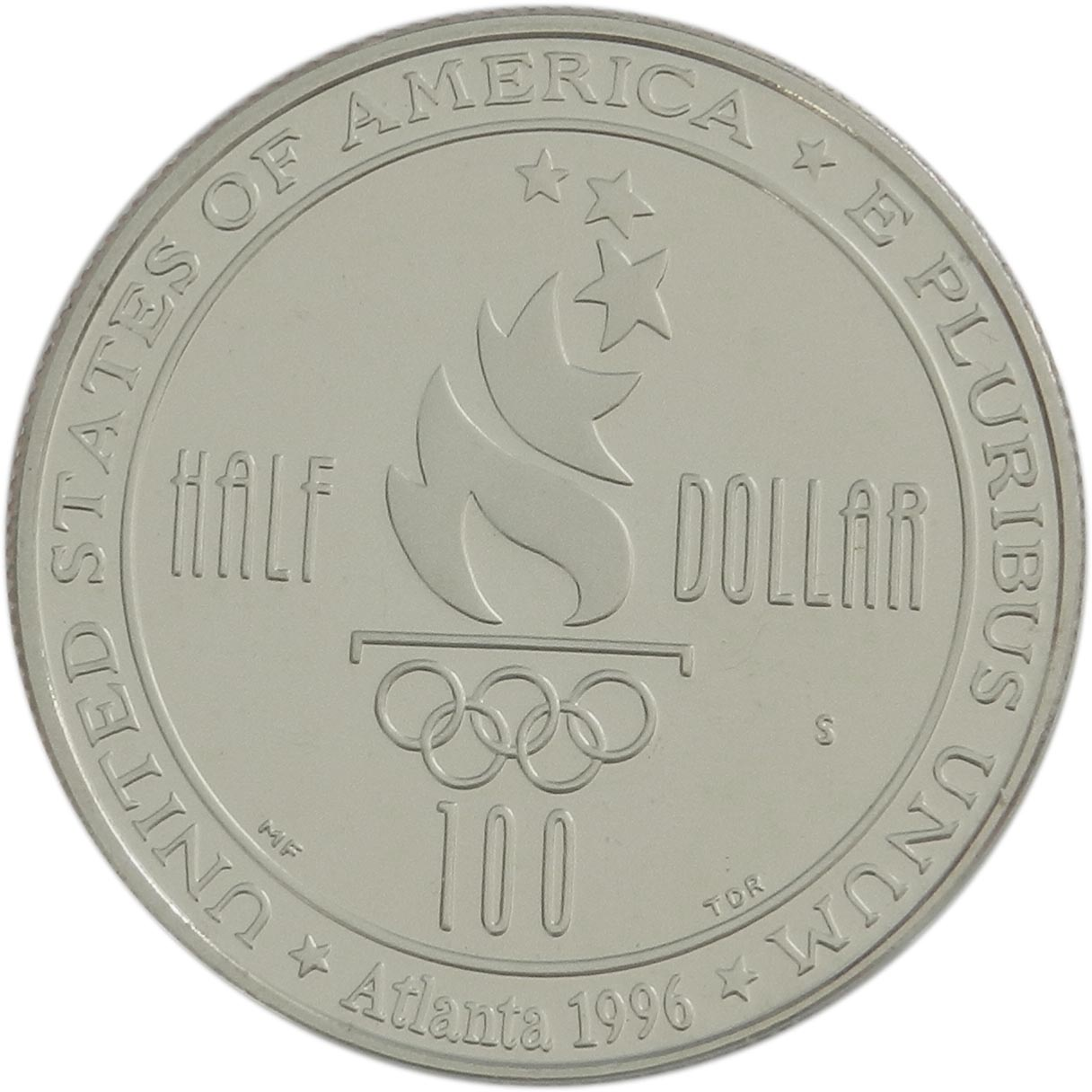 1996 US PROOF Half Dollar Atlanta Olympics Basketball 50c