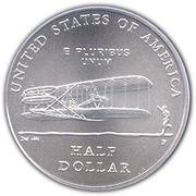 ½ Dollar (First Flight Centennial) -  reverse
