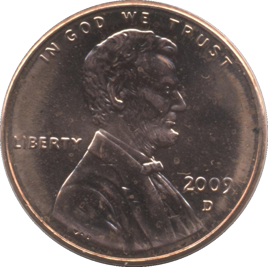 "2009: 1 Cent ""Lincoln Cent"" (Formative Years)"