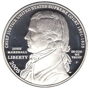 1 Dollar (Chief Justice John Marshall) -  obverse