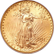"20 Dollars ""Saint-Gaudens - Double Eagle"" (with motto) -  obverse"