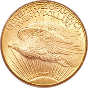 "20 Dollars ""Saint-Gaudens - Double Eagle"" (with motto) -  reverse"