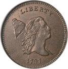 "½ Cent ""1/200 Dollar Liberty Cap, Head Facing Right,  Half Cent"" – obverse"