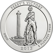 """¼ Dollar """"Washington Quarter"""" (Perry's Victory - Silver Proof) -  reverse"""
