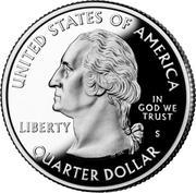"""¼ Dollar """"Washington Quarter"""" (Mount Rushmore - Silver Proof) -  obverse"""