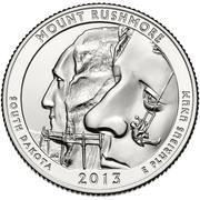 "¼ Dollar ""Washington Quarter"" (Mount Rushmore - Silver Proof) -  reverse"