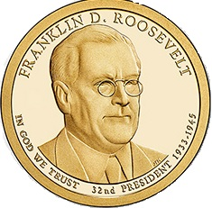 Roosevelt Presidential Dollar 2014-D $1 Franklin D