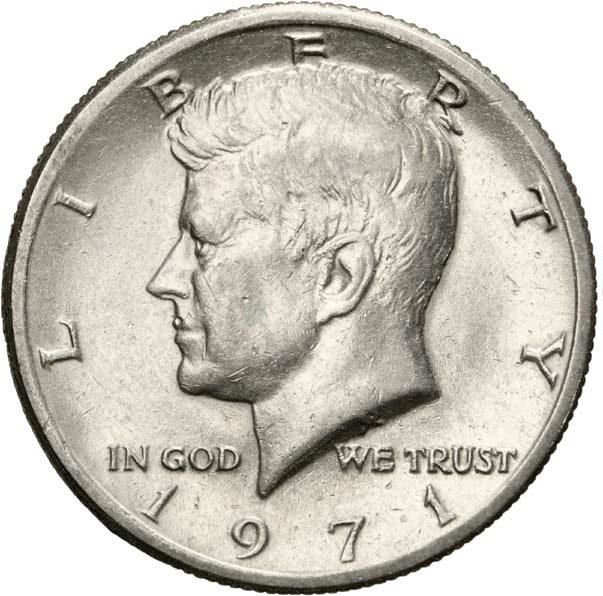 189 Dollar Quot Kennedy Half Dollar Quot Cuivre Plaqu 233 Cupronickel